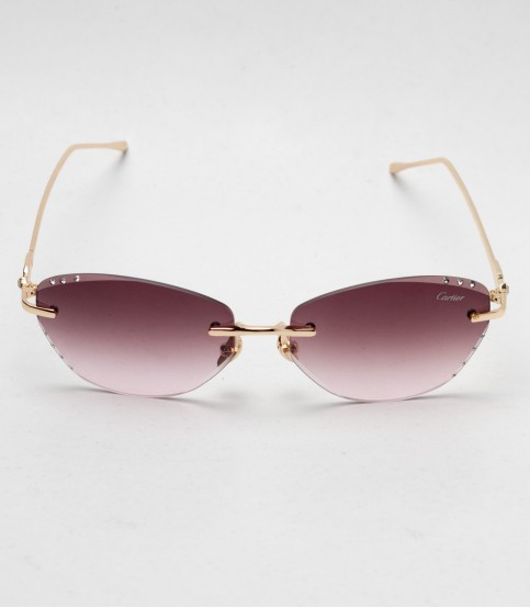 Carlier Brown And Golden Color defferant version ladies Sunglass