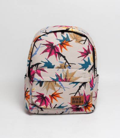 Xike Floral Off White Backpack