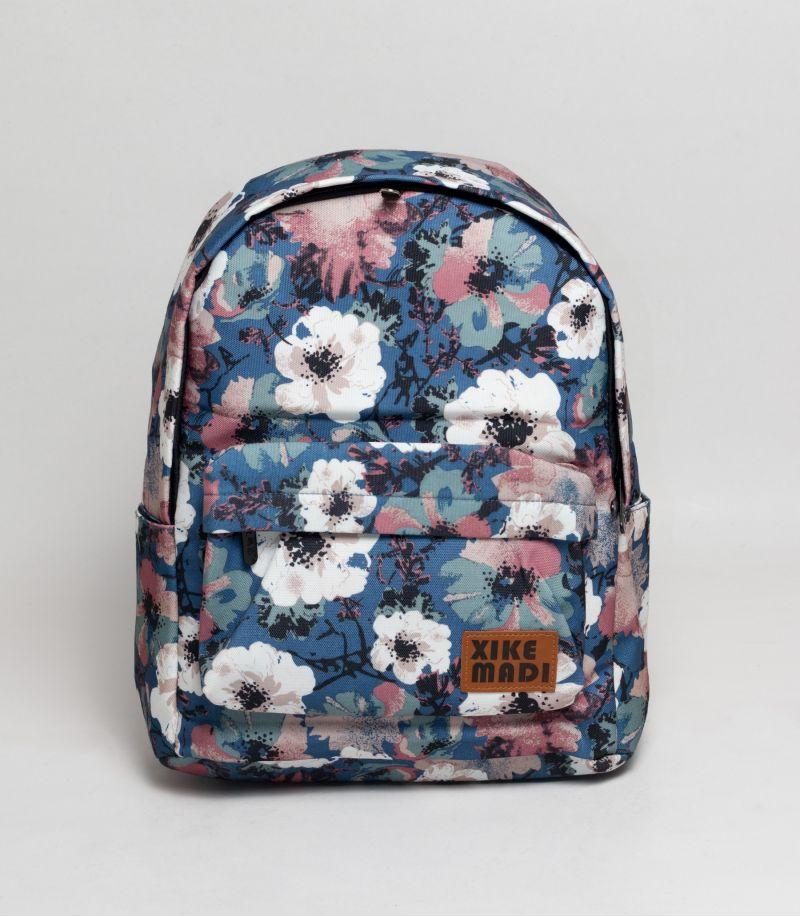 4baf55faca36 Buy Xike Floral Blue Backpack in Bangladesh.
