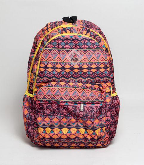 A&EM Abstract Design Orange Backpack