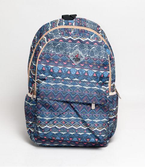 A&EM Abstract Design Blue Backpack