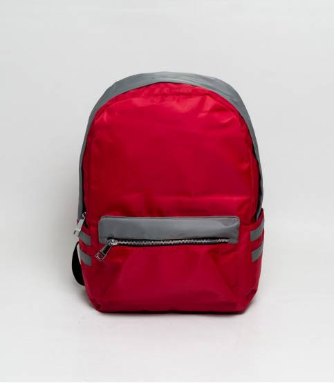 Fortune Double Stripe Red Backpack