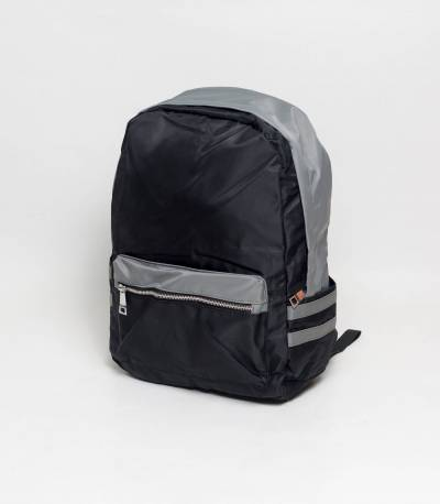 Fortune Double Stripe Black Backpack