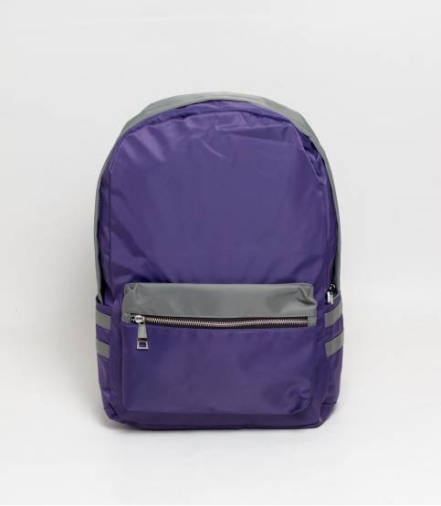 Fortune Double Stripe Purple Backpack