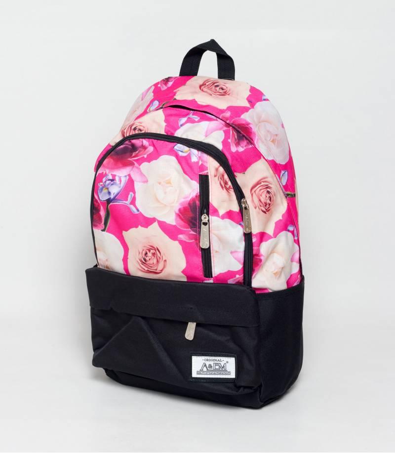 ea0bb432af02 Buy Xike Madi Black And Pink Color Floral Girls Backpack in Bangladesh