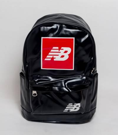 NB Black PU Backpack