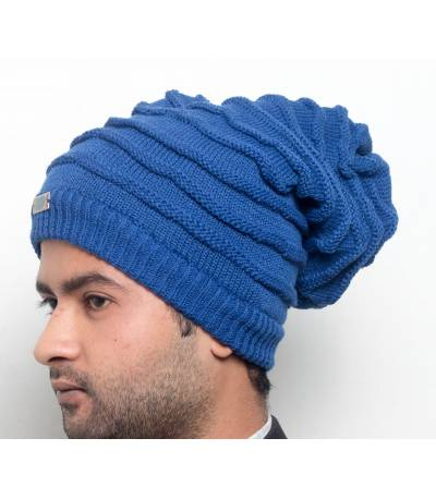 Men's Blue Beanie