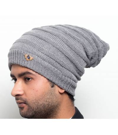 Men's Gray Beanie