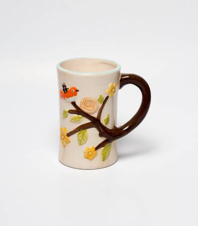 Tree And Bird Print Mug