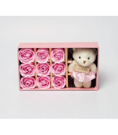 Buy Pink Floral Soap With Teddy Bear