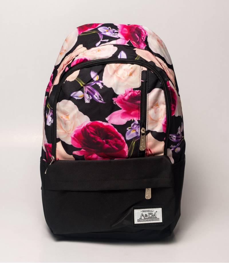 ef477fb7a8cf Buy Xike Madi Pink Color Floral Girls Backpack in Bangladesh