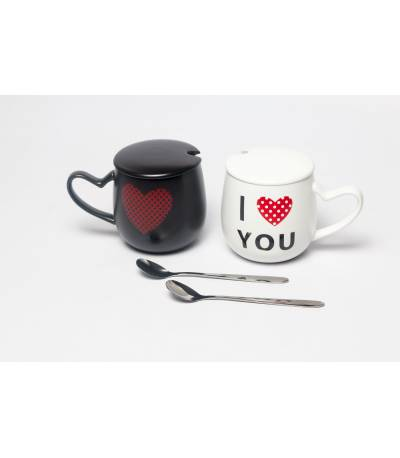 Couples Mug Black And White