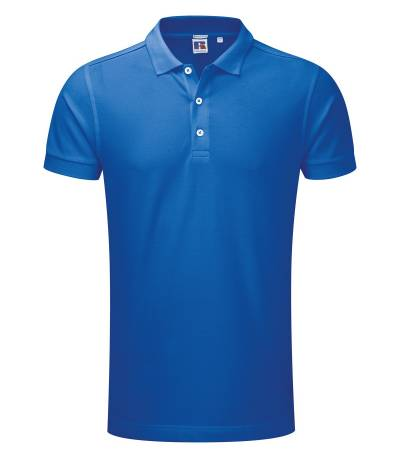 Azure Blue Polo Shirt For Man
