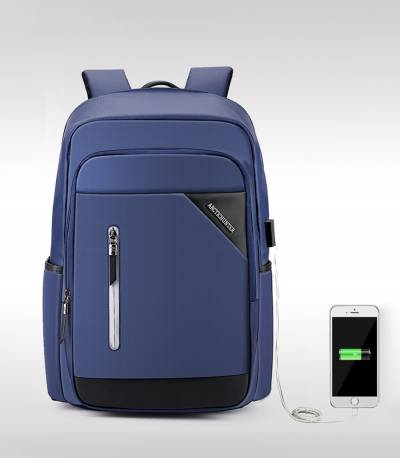 ARCTIC HUNTER Blue Travel Bag USB Charging Men's Bag