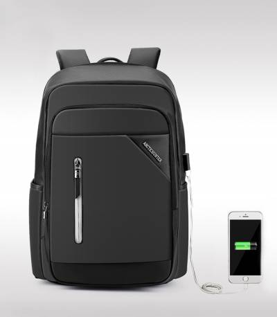 ARCTIC HUNTER Black Travel Bag USB Charging Men's Bag