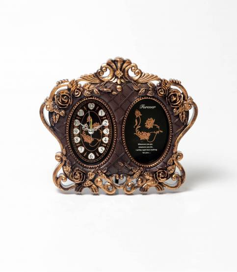 Clock & Photo Frame Chocolate Dark Clock Tebale Watch