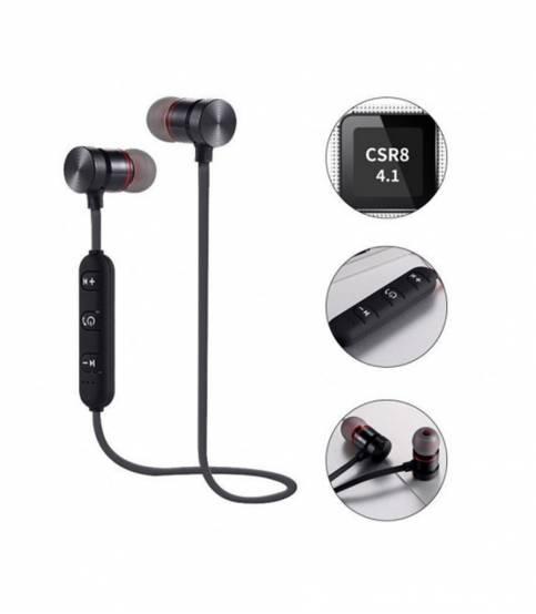 Black Magnetic Metal Bluetooth Headphone