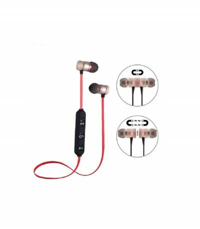 Gold Magnetic Metal Bluetooth Headphone