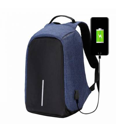 Anti Theft Blue Backpack