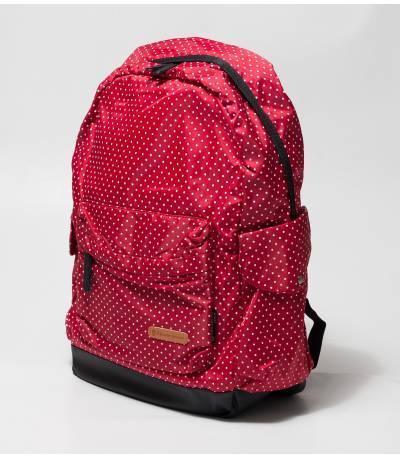 Red Backpack With Polka Dot