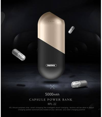 Remax Capsule Powerbank 5000mAh