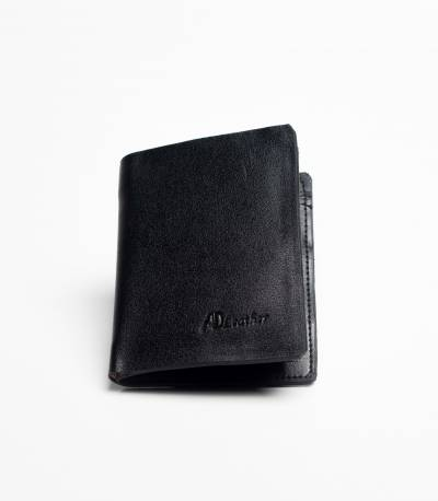 Ad leather wallet Black