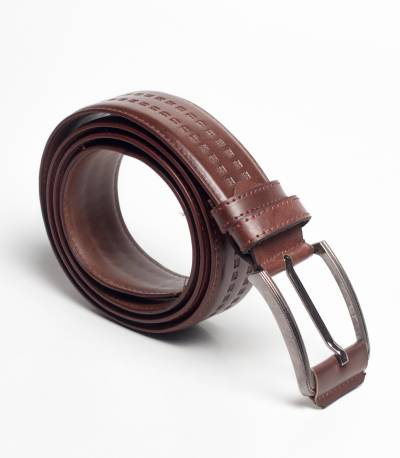 Jacob palmer classic leather Brown shadow belt