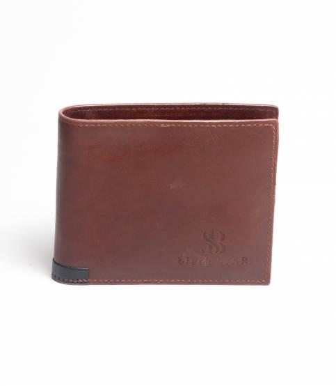 Black Star Leather Wallet