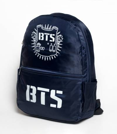 BTS Solid Navy Fabric Backpack