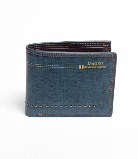 Daiqisi Blue Leather Wallet