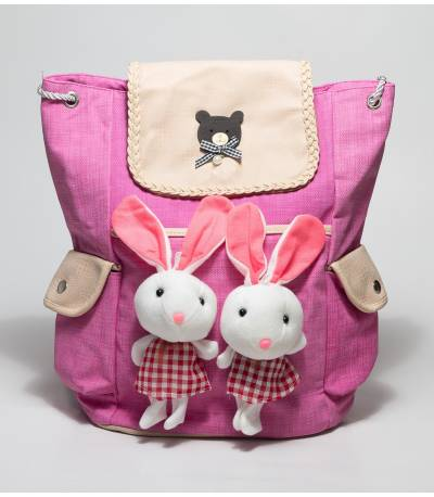 Pink Backpack With Rabbit