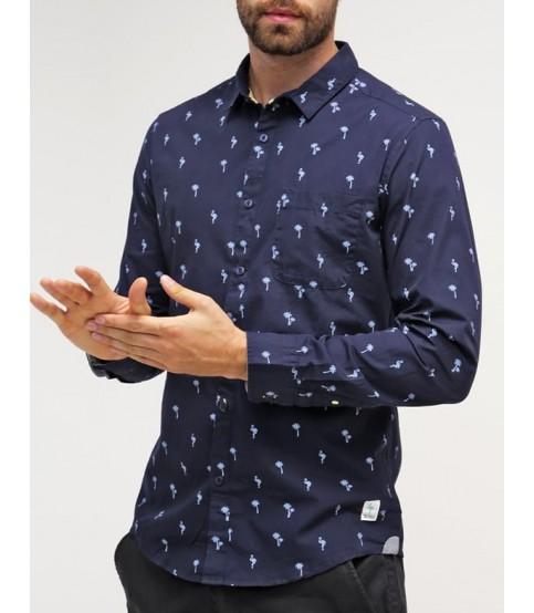 Esprit Navy Blue Printed Shirt