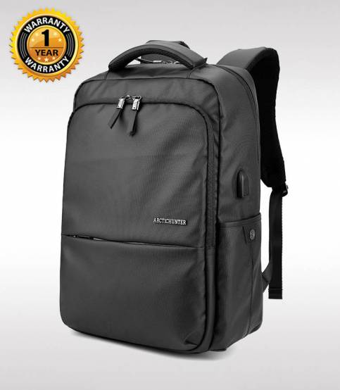 ARCTIC HUNTER Waterproof Oxford Black Laptop Business Men Backpack