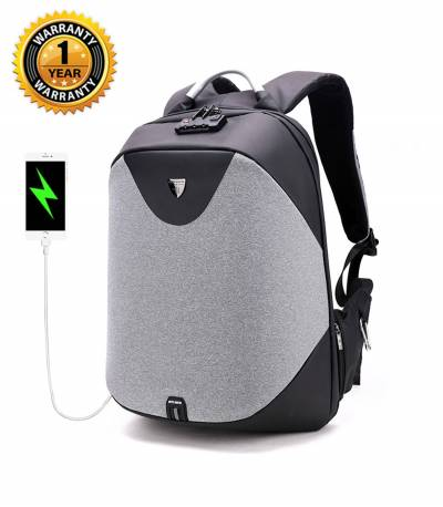 ARCTIC HUNTER Anti-Theft Gray Backpack