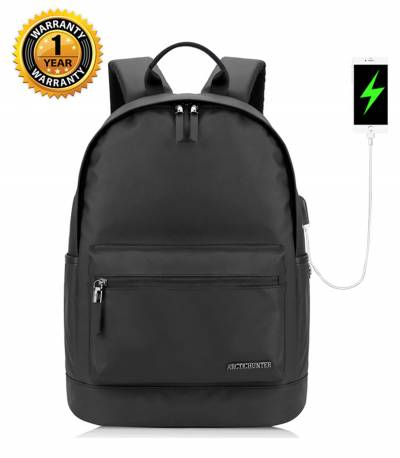 ARCTIC HUNTER Waterproof Oxford Black Backpack