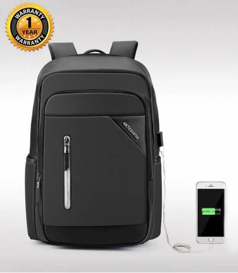 ARCTIC HUNTER Black Travel Bag USB Charging Men's Bag