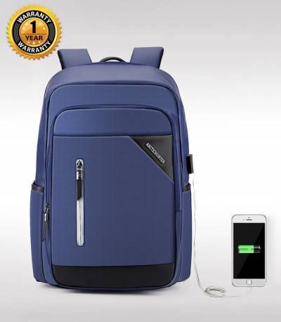ARCTIC HUNTER Blue Travel Bag USB Charging Men's Bag