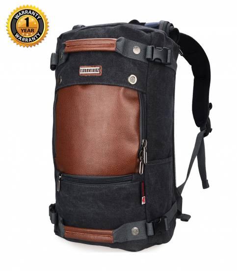 Witzman Men's Black Travel Backpack