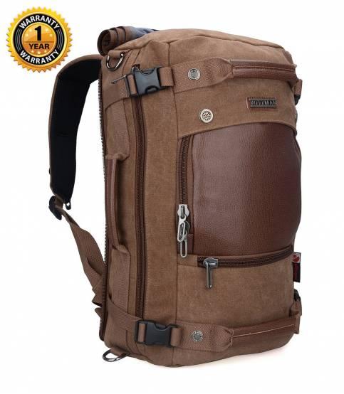 Witzman Men's Brown Travel Backpack