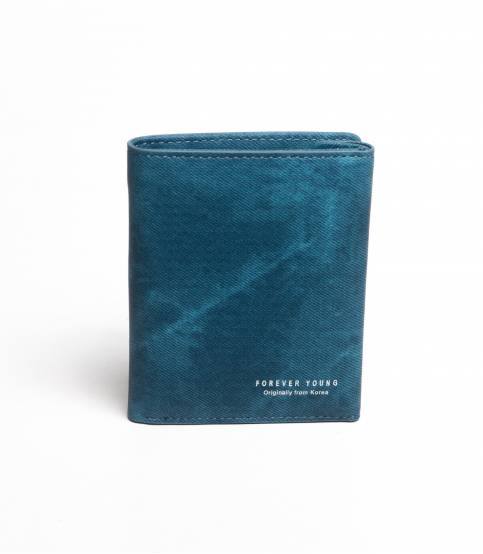 Forever Young Leather Wallet Blue