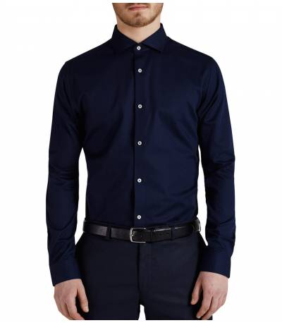 Jack & Jones Spread Collar Navy Shirt