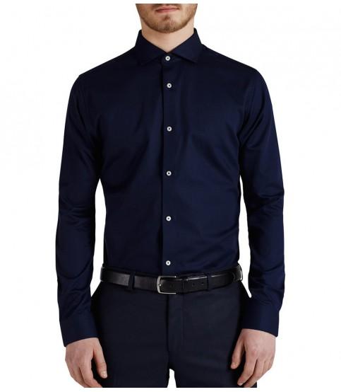 Jack & Jones Spread Collar Navy Shirt