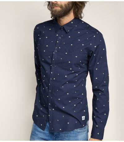 Esprit Cotton Shirt With All-over Print