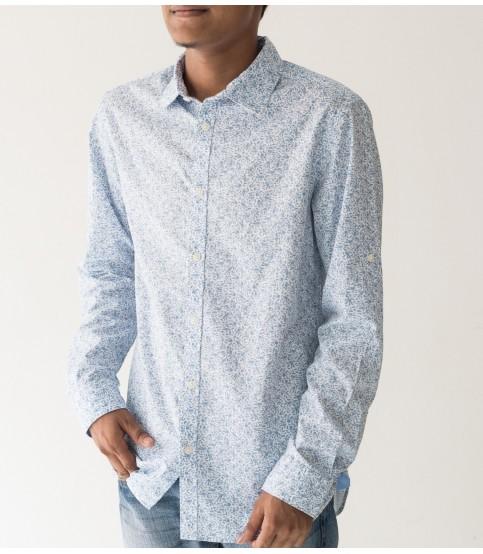 Jack & Jones Sky Blue Flower Print Shirt