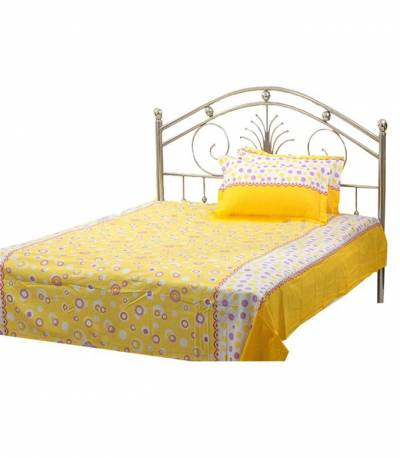 Home Tex Bluemoon Yellow Bedsheet