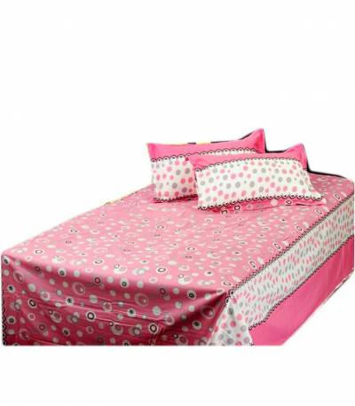 Home Tex Bluemoon Pink Bedsheet