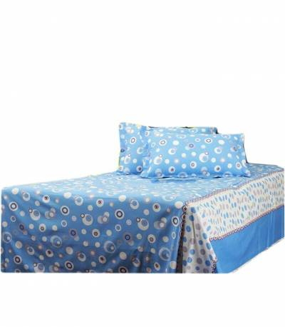 Home Tex Bluemoon Blue Bedsheet