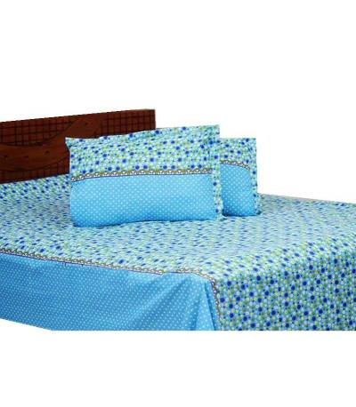 Home Tex Sky Blue Shade Bedsheet
