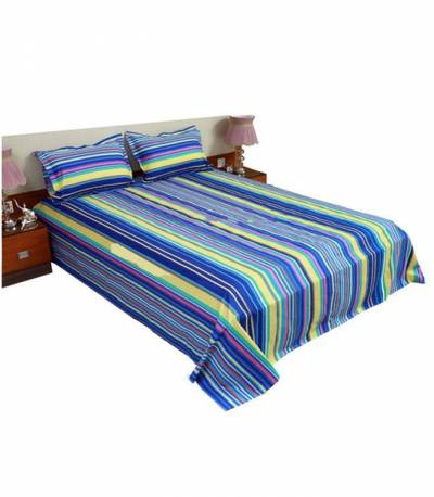 Home Tex Blue Long Step Bedsheet