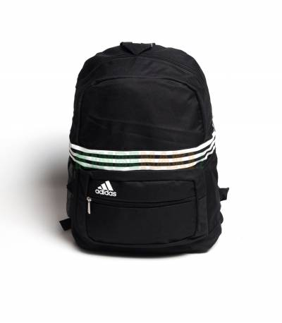 Adidas Black & White Stripes Backpack